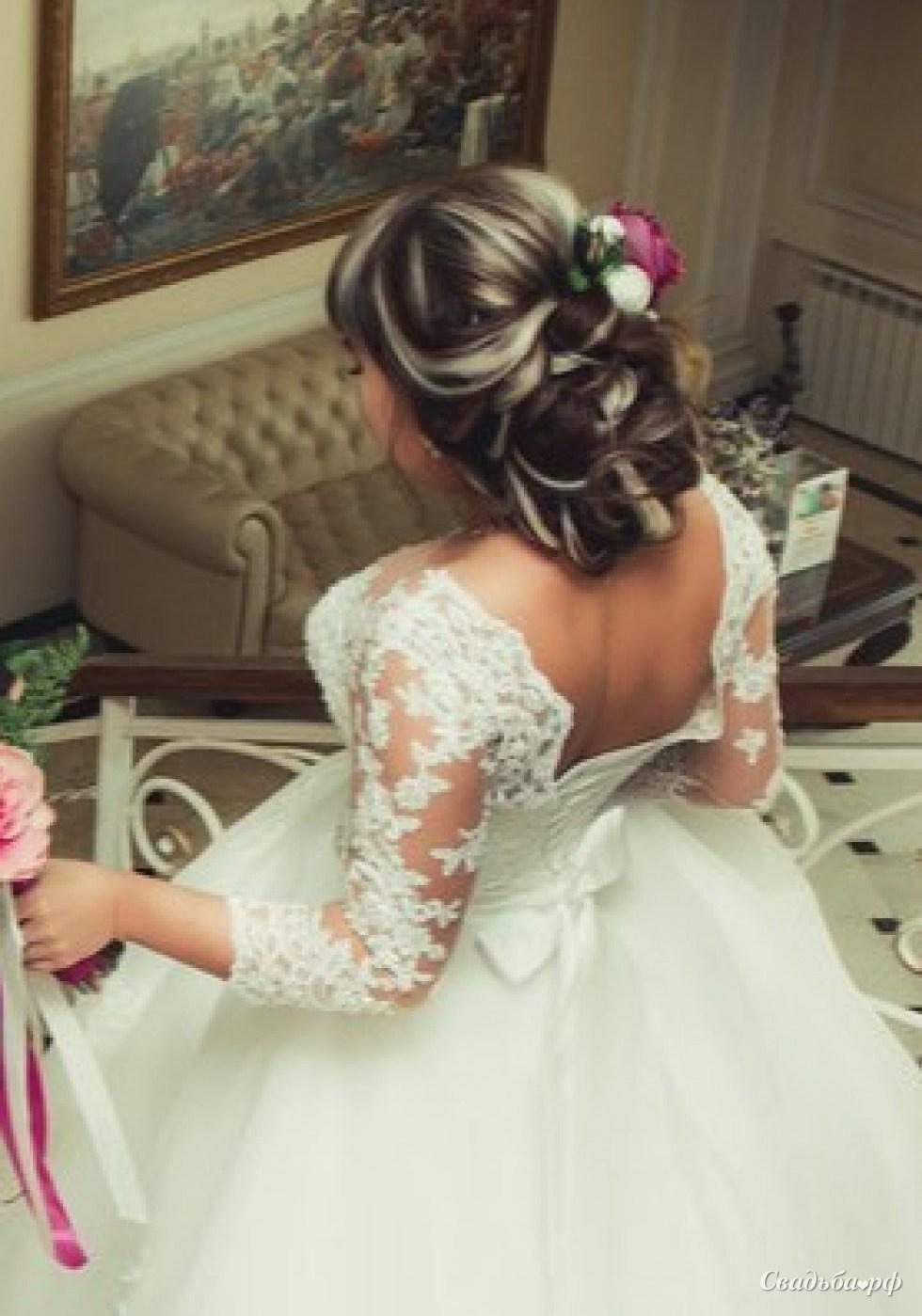 Свадебные прически в куле фото